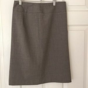 Wool lined pencil skirt